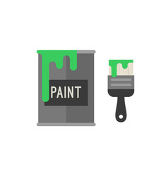 Paint brush with bucket vector
