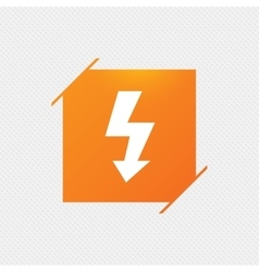 Photo flash sign icon Lightning symbol vector