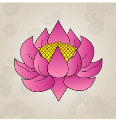 Pink lotus japanese tattoo vector