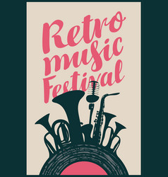 poster for retro music festival vector image