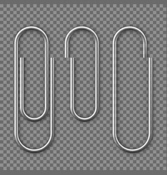 Realistic paper clip attachment with shadow vector