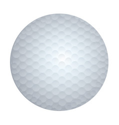 Realistic white silhouette golf ball sport element vector