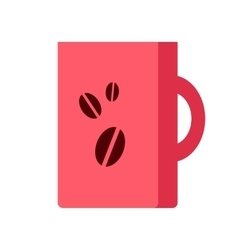 Red Coffee Cup Isolated Hot Strong Beverage vector