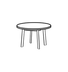 round table hand drawn sketch icon vector image