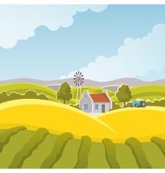 Rural landscape vector