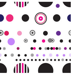 seamless abstract geometry circles pattern on vector image