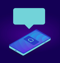 smartphone device gadget with bubble for your text vector image