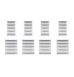 store shelves set vector image