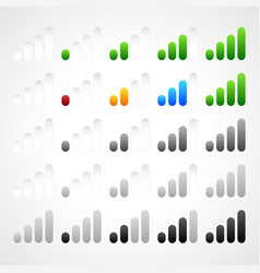 Stylish modern signal strength indicators vector