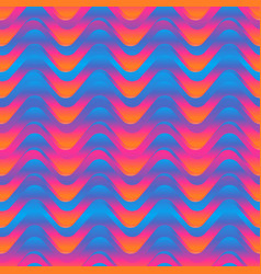 sunny color wave seamless pattern vector image