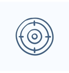 Target board sketch icon vector