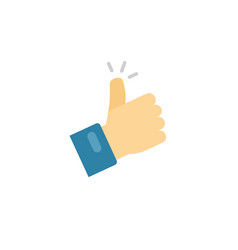 thumb up icon symbol flat cartoon thumbs vector image