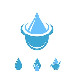 Water Logo Isolated drops on white background vector image