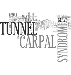 what you need to know about carpal tunnel vector image