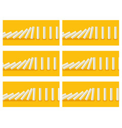 White dominoes animation sprite with yellow back vector