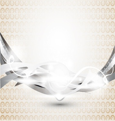 abstract gray background with ornament vector image vector image