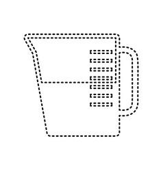 beaker sign black dashed icon on white vector image