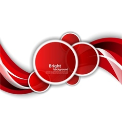 Bright wavy background with circles vector image vector image