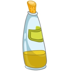 cartoon home kitchen bottle vector image