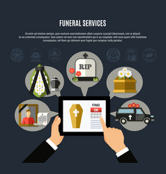 funeral services composition vector image
