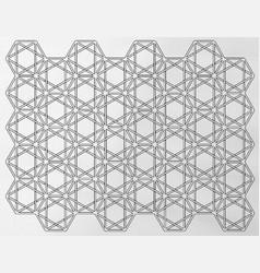 Hexagram weave light vector