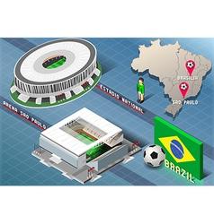 Isometric Stadium of Brasilia and Sao Paulo Brazil vector image vector image