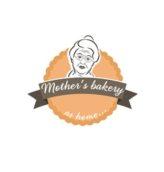 label cake with grandmother vector image