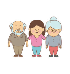 mom and grandparents together family standing vector image