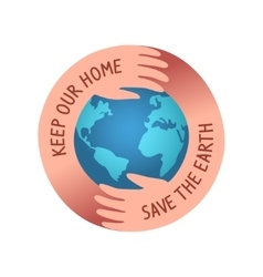 save the world logo vector image vector image