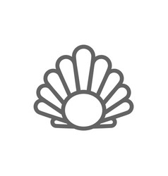 simple perl in a shell line icon symbol and sign vector image vector image