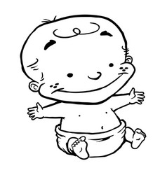 baby child kid cartoon vector image vector image