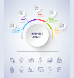 business concept scheme on vector image vector image