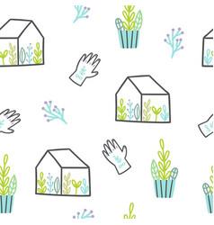 cute plants pattern vector image