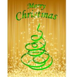 green christmas card vector illustration vector image vector image
