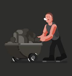 Miner hard working vector