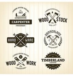 Carpentry Emblems 1 vector image