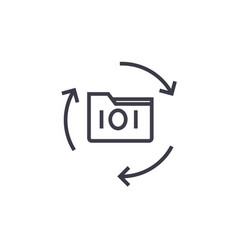 data backup concept thin line icon symbol vector image