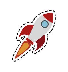 flying rocket icon image vector image