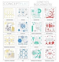 Infographics mini concept Genetics and vector image