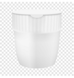 Plastic cup for noodles mockup realistic style vector