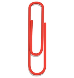 Red paper clip vector image