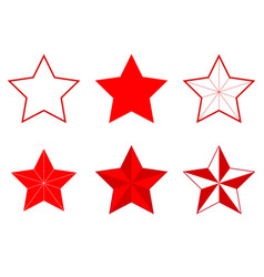 set of different five-pointed stars vector image vector image