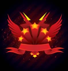 banner emblem vector image vector image