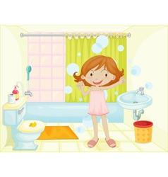 Bathroom vector image vector image