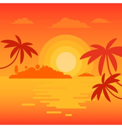 Beach sunset 2 vector image