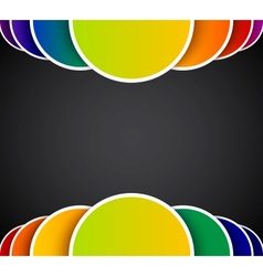 Bright abstract background with colorful circles vector image vector image