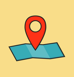 flat colored location icon vector image vector image