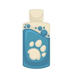 icon of pet shampoo symbol animal care vector image vector image