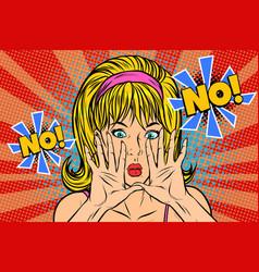 no pop art retro vintage blonde woman vector image vector image