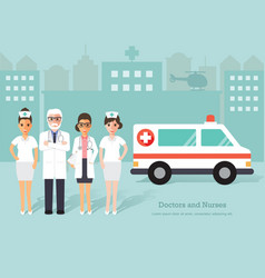 senior doctors and nurses medical staff vector image vector image